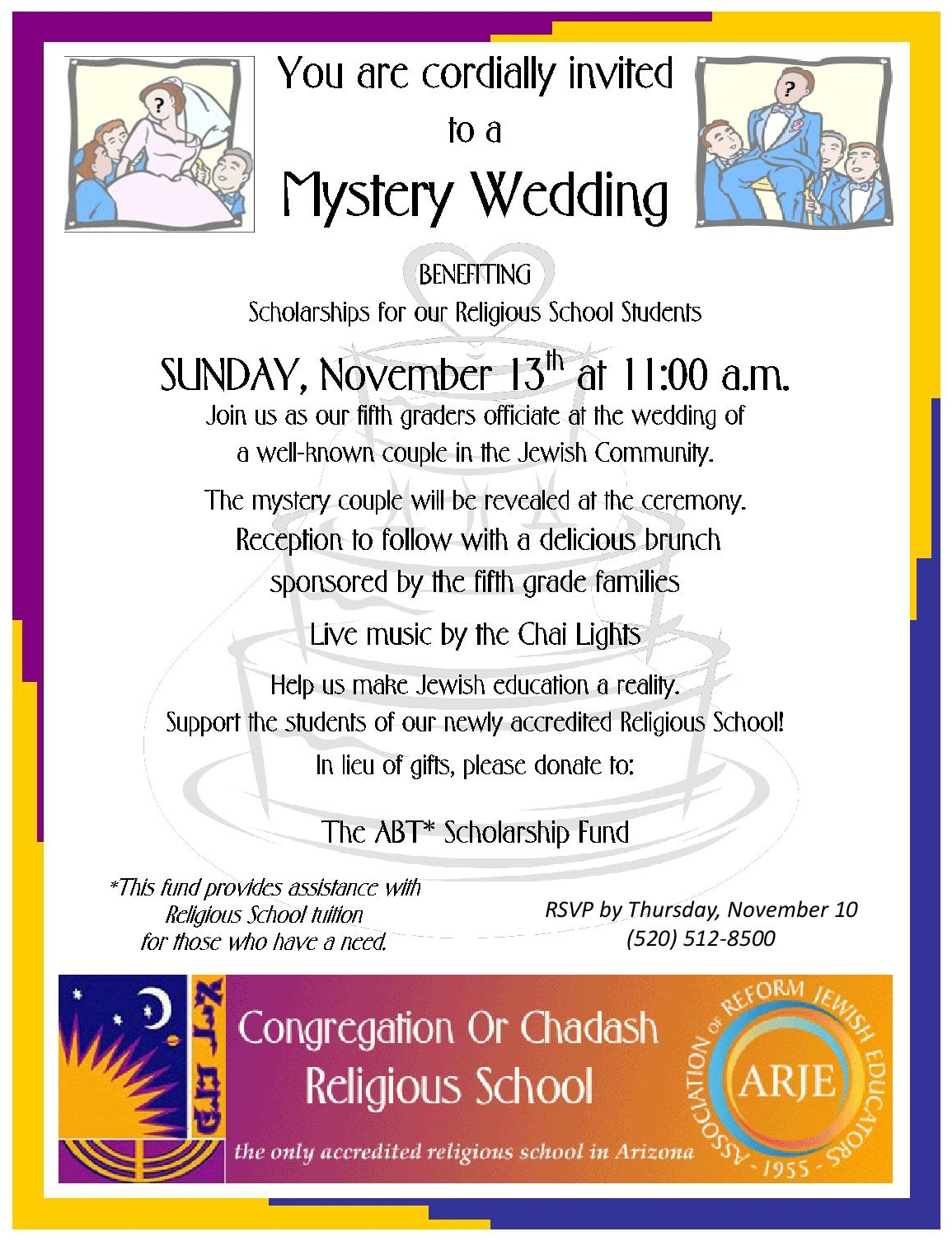 2016 Fall Mystery Wedding