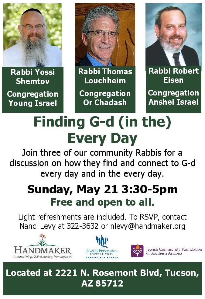 May Rabbi Panel Lecture G d in the Every Day