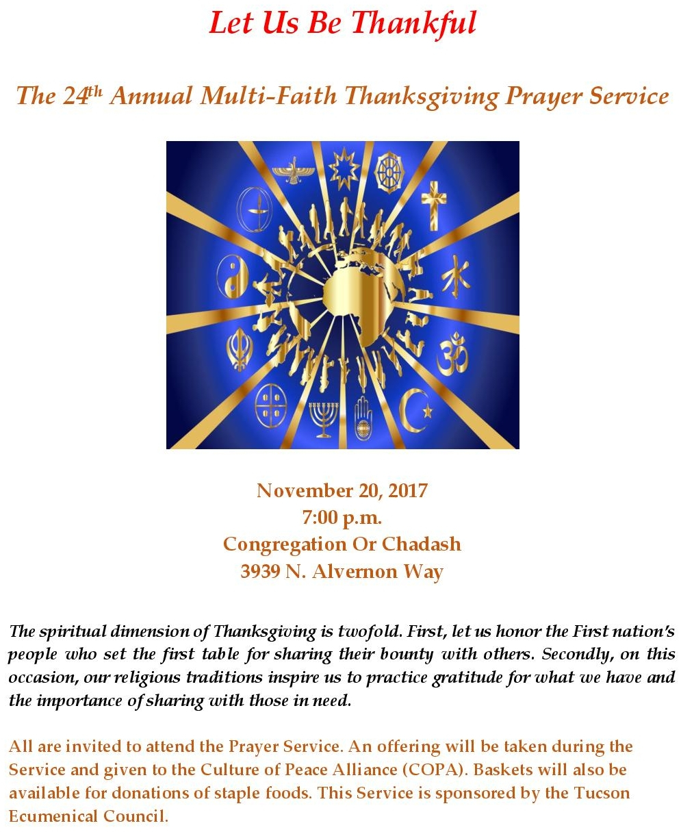 2017 multi faith thanksgiving service flyer